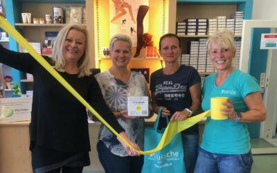 Kindergarten-Sponsoring: Dagmar Förster ermöglicht gelbe Therabänder