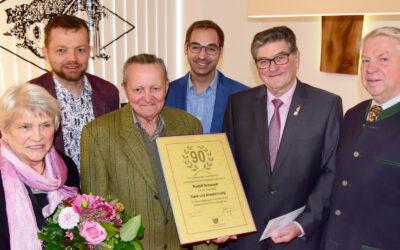 Rudolf Schwayer aus Zellerndorf feiert 90er