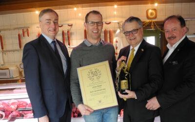 Wirtschaftsdelegation gratulierte Johann Eckerl nachträglich zum Runden!