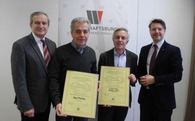 Verleihung der Silbernen Ehrennadel im Bezirk Krems
