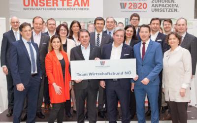 """Team Wirtschaftsbund NÖ: """"die geballte Kraft der blau-gelben Wirtschaft"""" für WKNÖ-Wahl"""