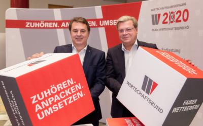 """Ecker/Servus: """"Wir wollen eine klare Mehrheit für den Wirtschaftsbund!"""""""