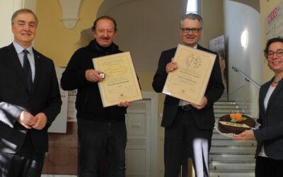 Goldene Ehrennadel für Franz Riefenthaler und Geburtstagswünsche für Peter Hopfeld