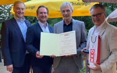Johannes Bartosch erhält Silberne Ehrenmedaille der Wirtschaftskammer NÖ