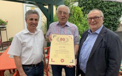 Gratulation an Josef Walli zum 80. Geburtstag